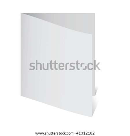 Paper blank leaf - a card. Vector illustration