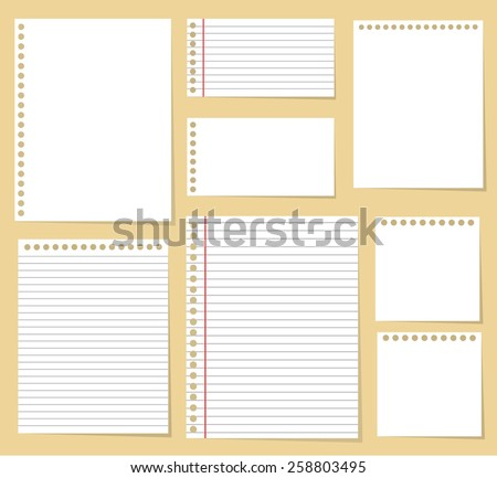 paper blank notes office document vector message isolated - stock vector