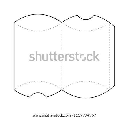 paper box blueprint template stock vector 1119994967 shutterstock