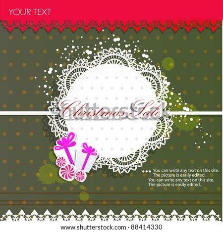 Paper bubbles for speech. Christmas Sale - stock vector
