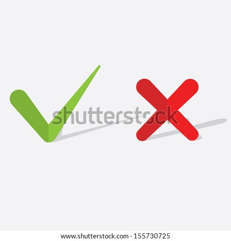 paper check mark. vector icons. eps10 - stock vector