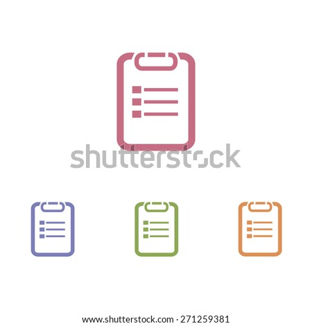 Paper checklist icons - stock vector