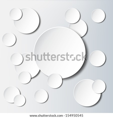 Paper circle background - stock vector