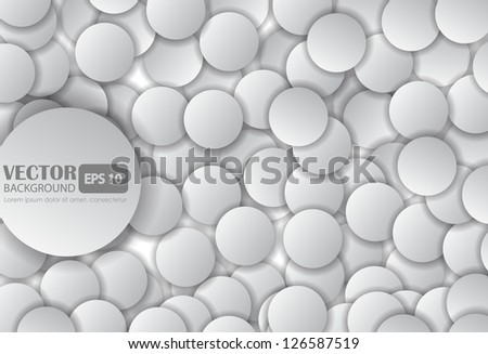 Paper circle with drop shadows. - stock vector