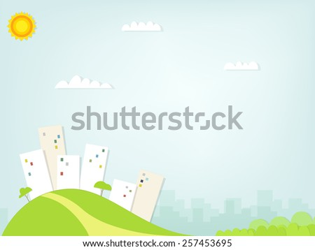 Paper city landscape - stock vector