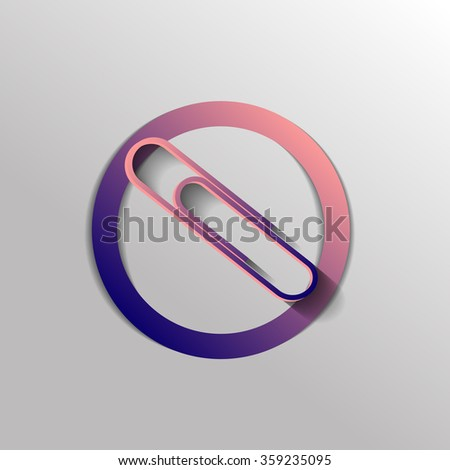 paper clip icon, a symbol of office