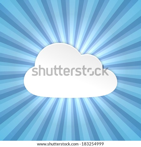 Paper cloud background