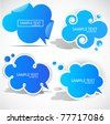 Paper cloud bubble for speech - stock vector