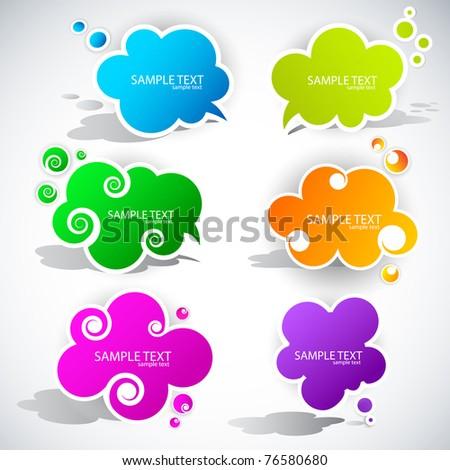 Paper cloud bubble for speech - stock vector