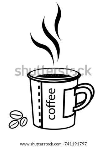 paper coffee cup draw vector illustration