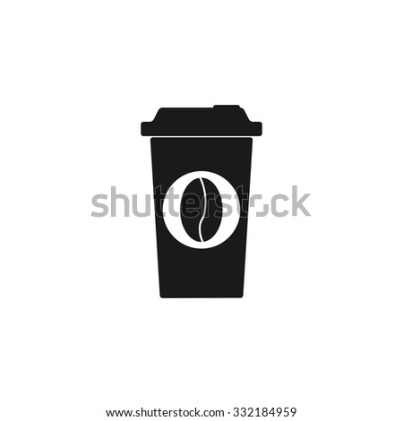paper coffee cup. Flat design style eps 10 - stock vector