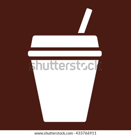 paper coffee drink glass white icon