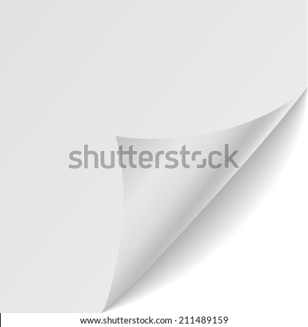 paper corners. Vector illustration - stock vector