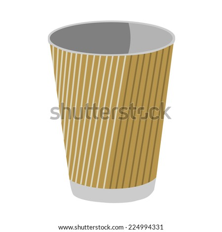 Paper cup, paper coffee cup, coffee cup, plastic cup, paper cup isolated - stock vector