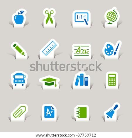 Paper Cut - - stock vector
