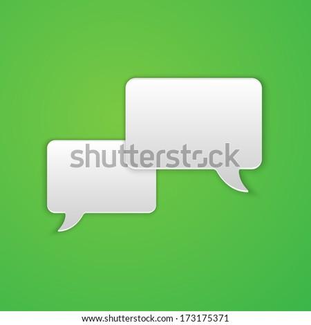 Paper Cut Speech Bubble Background. Vector Illustration - stock vector