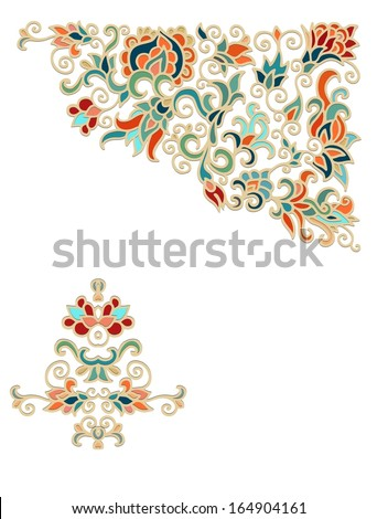 Paper decoration - stock vector