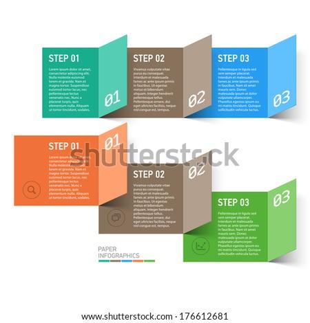 Paper design elements. Vector. - stock vector