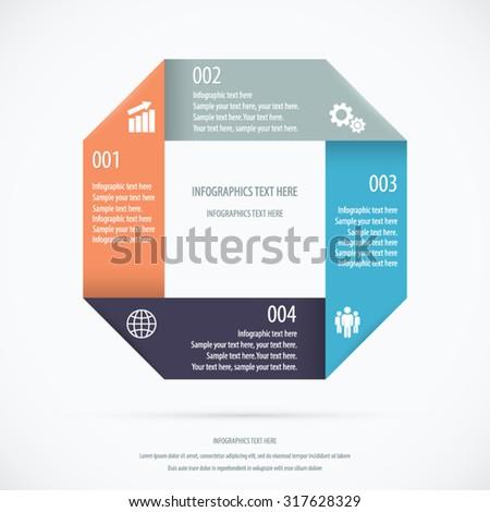 Paper Design Infographic Background. EPS 10 vector. - stock vector
