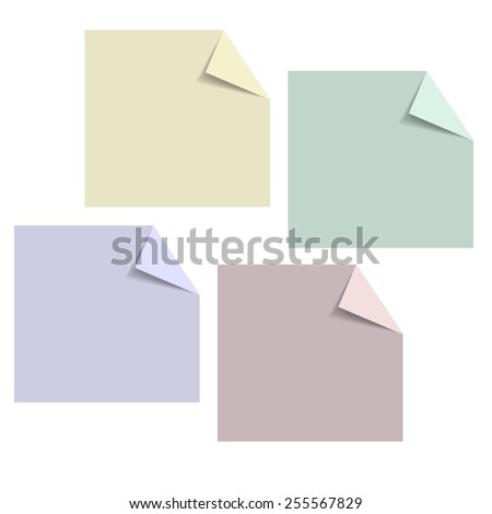 Paper Design templates for your website or infographic. Vector. - stock vector