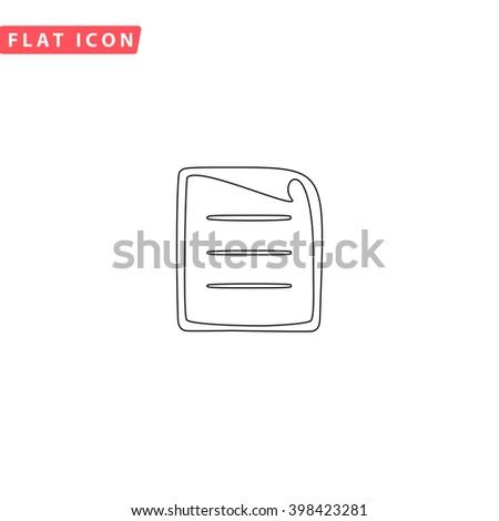 Paper document Icon Vector. Paper document Icon JPEG. Paper document Icon Picture. Paper document Icon JPG. Paper document Icon EPS. Paper document Icon AI. Paper document Icon Drawing - stock vector