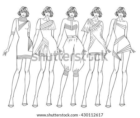 Paper Doll Young Girl Clothes Her Stock Vector 430112617 ...