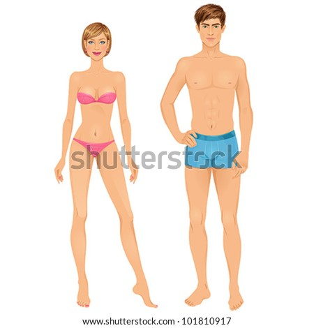 Paper dolls young woman guy underwear stock vector 101810917 paper dolls young woman and guy in underwear body templates pronofoot35fo Gallery