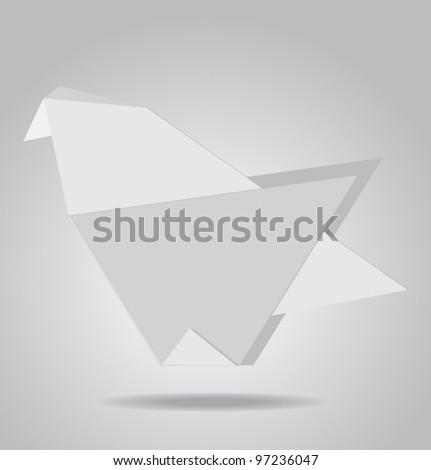 Paper dove vector illustration - stock vector