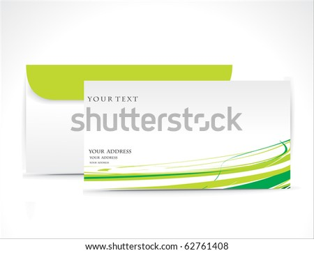 Paper envelope isolated on white background, vector illustration. - stock vector