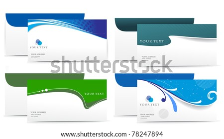 Paper envelope set isolated on white background, vector illustration. - stock vector