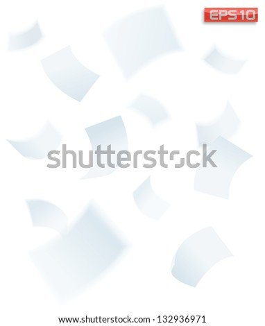 paper falling down, vector illustration - stock vector