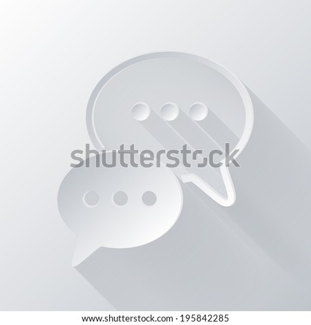 paper flat icon with a shadow. the cloud of speaking dialogue - stock vector