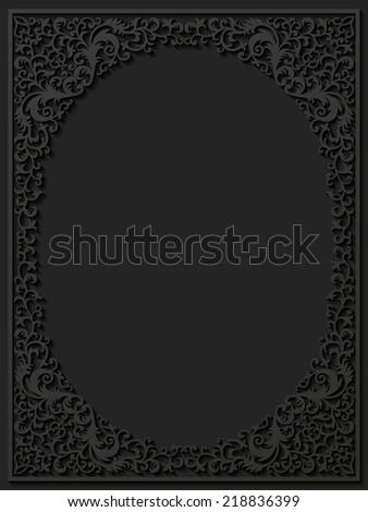 Paper floral frame. Vector illustration  - stock vector