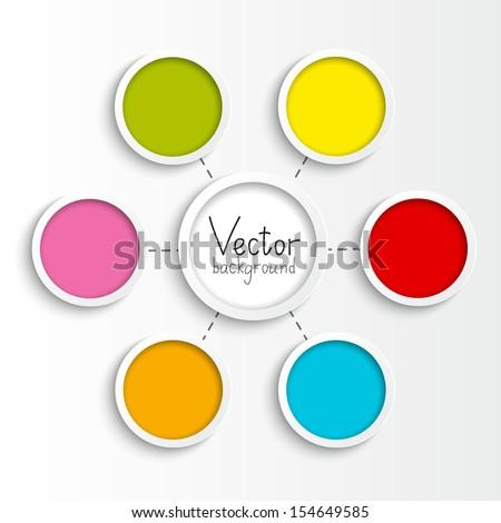 Paper flowchart for Your design - stock vector
