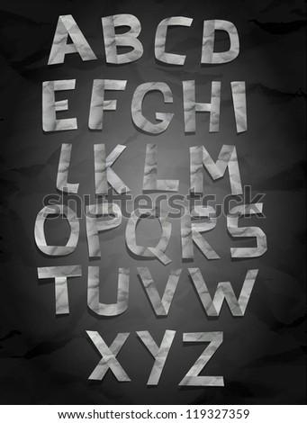 Paper font set eps10 - stock vector