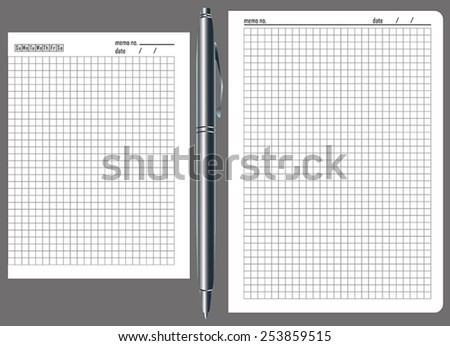 paper for notes - stock vector