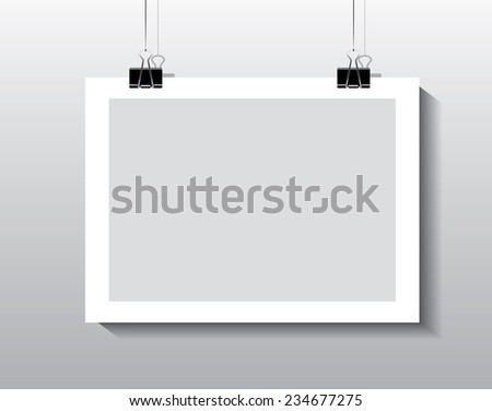 Photo Hanging Clips paper frame hangingpaper clips stock vector 234677275