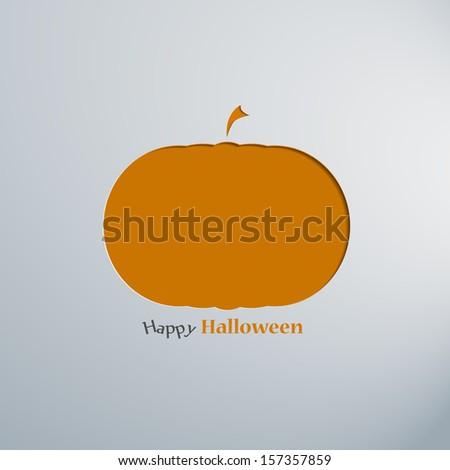 Paper halloween background. Vector illustration design - stock vector