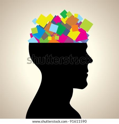 Paper head - stock vector