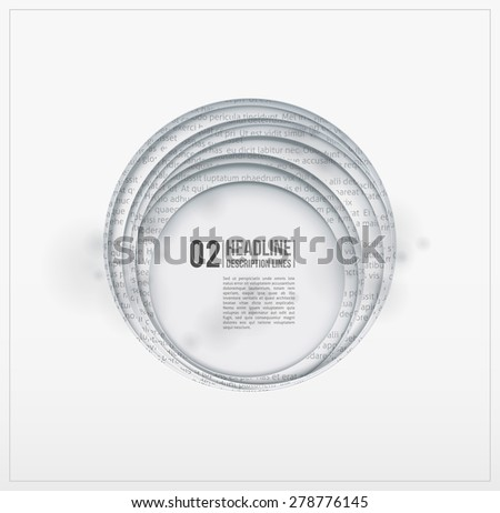 Paper hole. Circle cutouts. Design element - stock vector