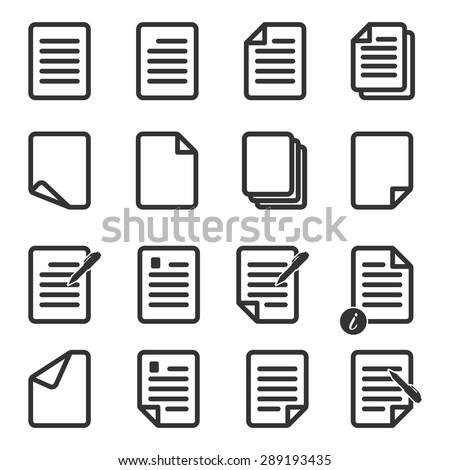 Paper icon,Document icon,Vector EPS10 - stock vector
