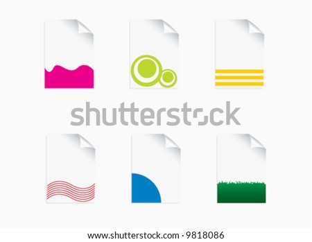 paper icons set - stock vector