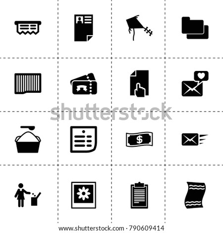 Paper Icons Vector Collection Filled Paper Stock Vector 790609414