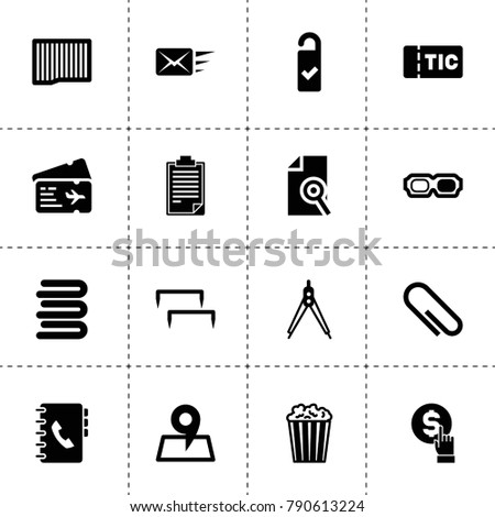 Paper Icons Vector Collection Filled Paper Stock Vector 790613224