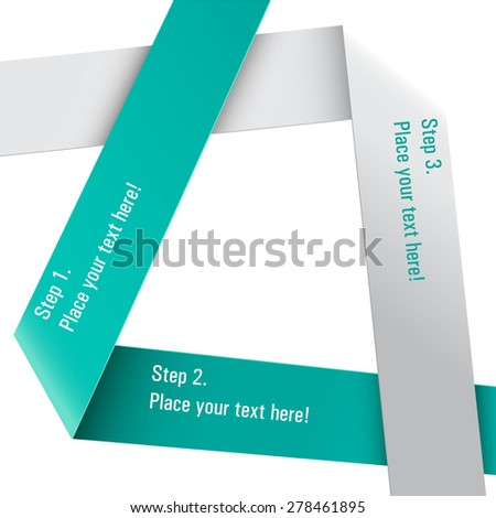 Paper labels isolated on white - stock vector