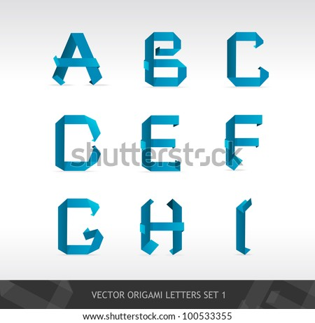 Paper letters - stock vector