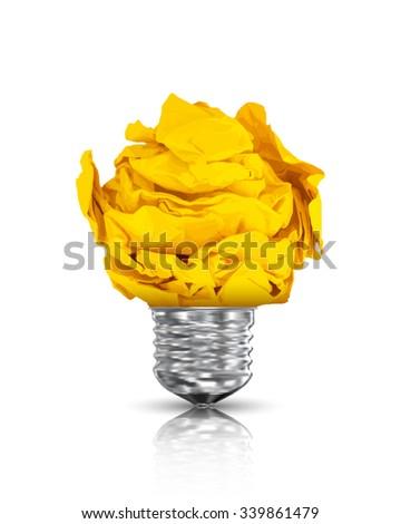Paper lightbulb. Vector Illustration - stock vector