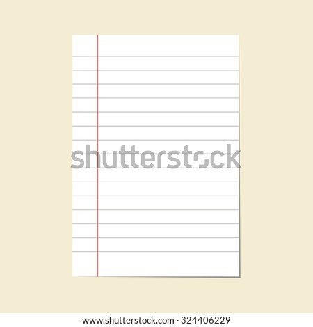 paper line vector - stock vector
