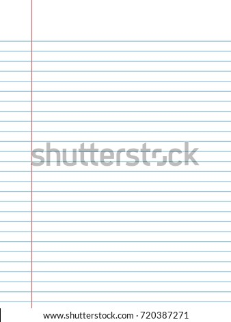 Paper Line Vector Background , Detailed Lined Paper Texture  Loose Leaf Paper Background