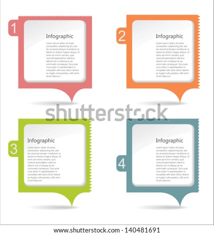 Paper message pad - stock vector
